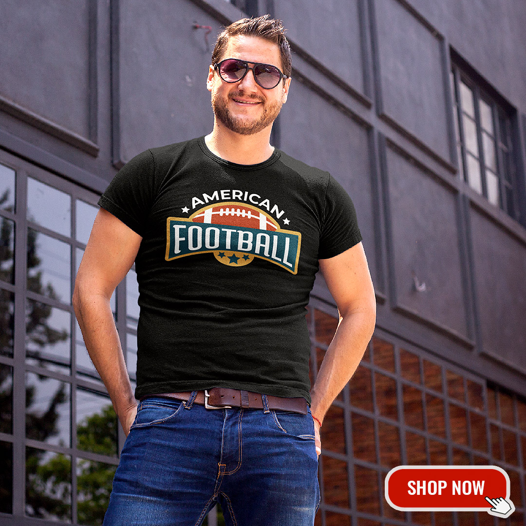 American Football T Shirt Herren