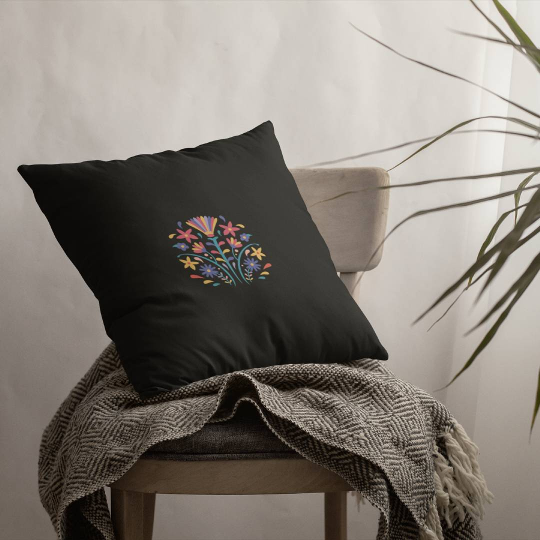 Otomi Floral Pillow Cover