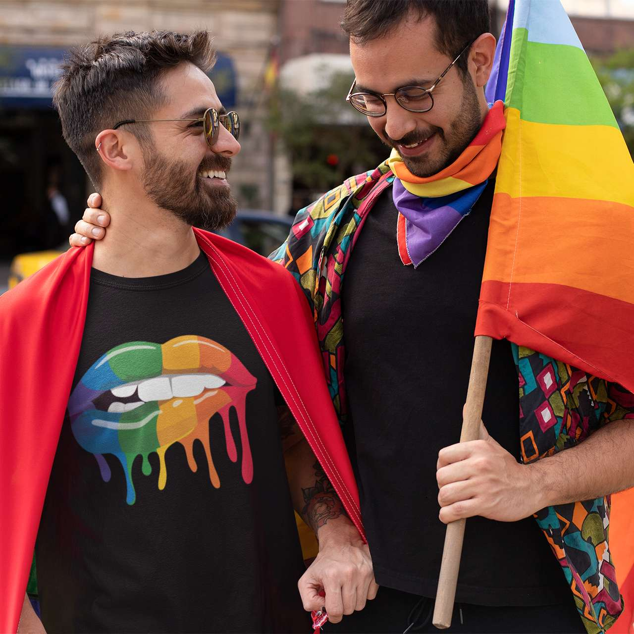 Rainbow Lips LGBT Pride Outfit Ideas