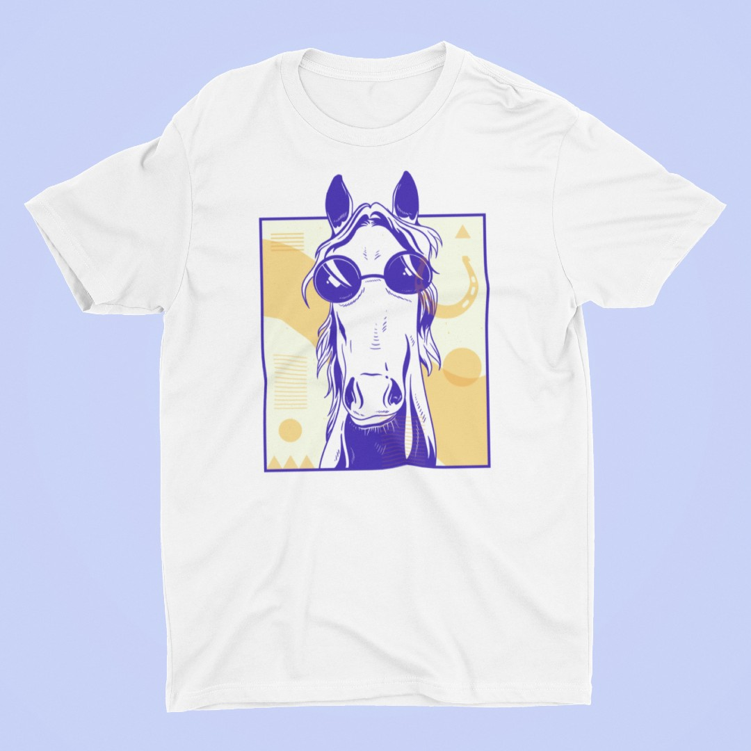 Abstract Hipster Horse in Sunglasses