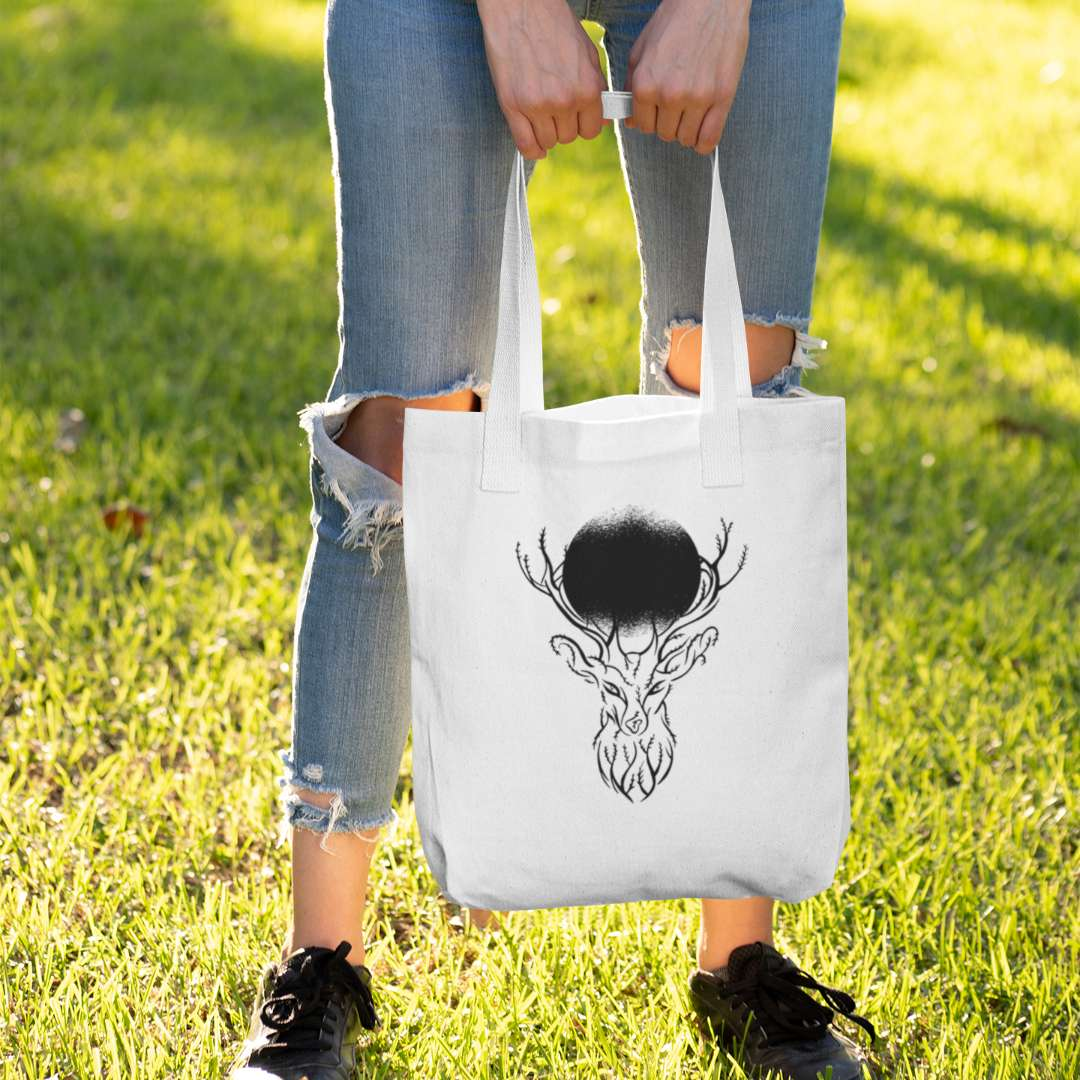 Deer Tree Branches Cloth Bag
