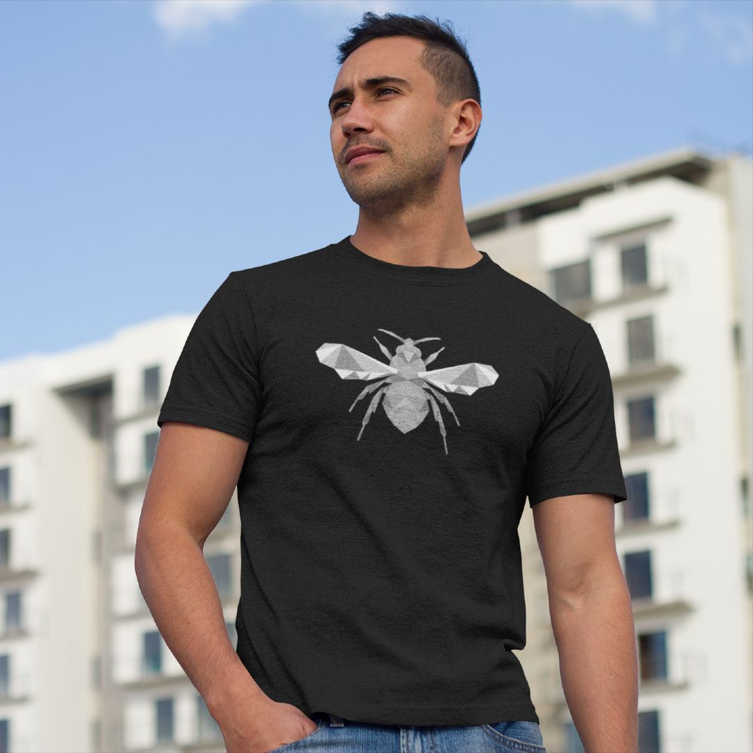 Polygon Geometric Bee Shirt