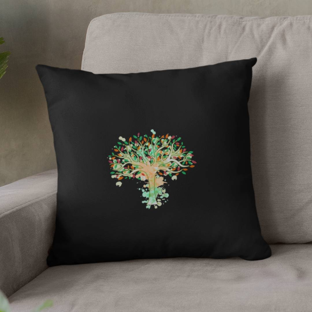 Tree of Life Watercolor Art Pillow Case