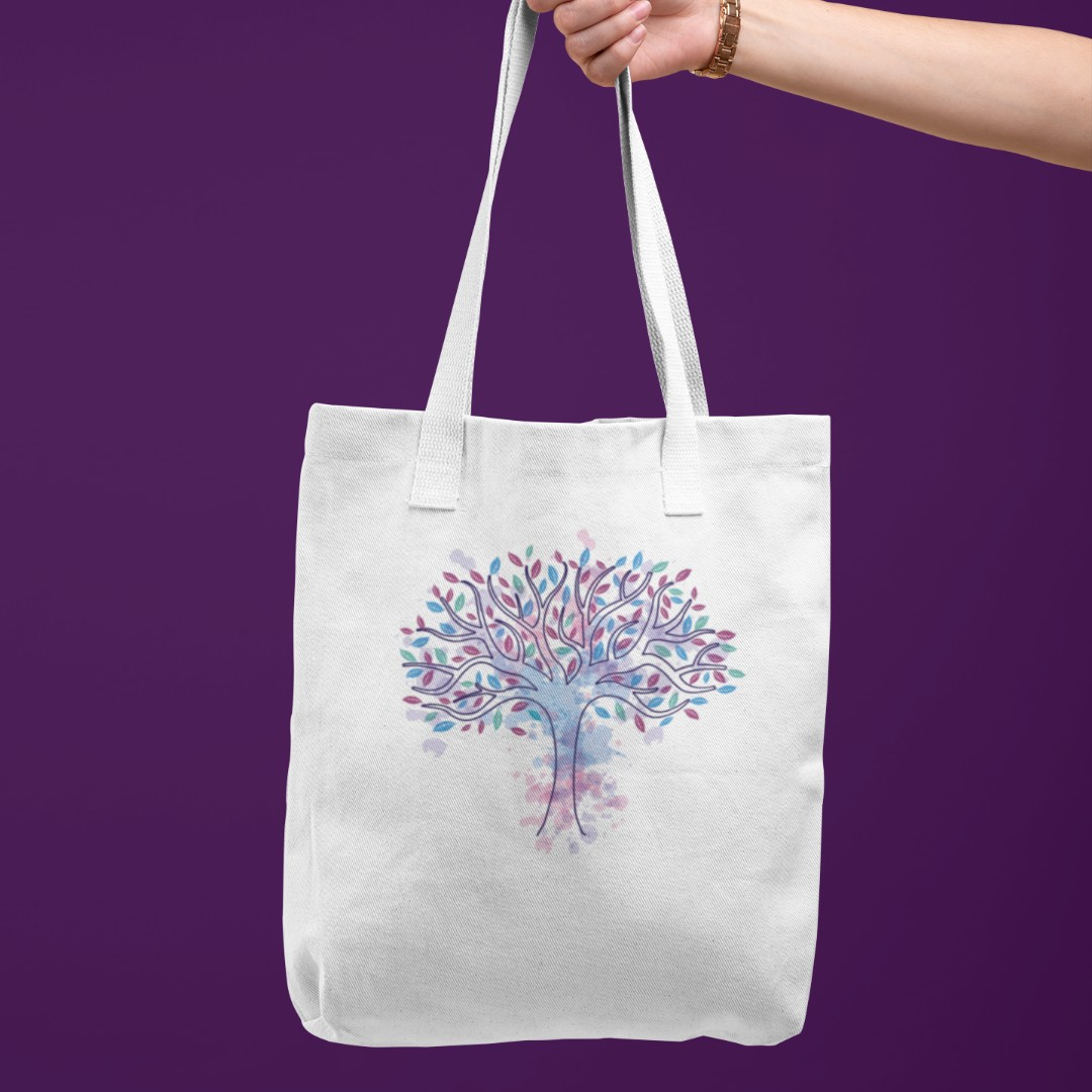 Watercolor Tree Of Life Art Cloth Bag Design