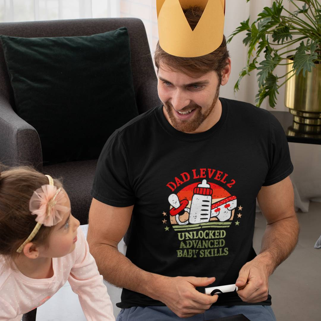 Level 2 Freigeschaltetes Gamer Dad Shirt