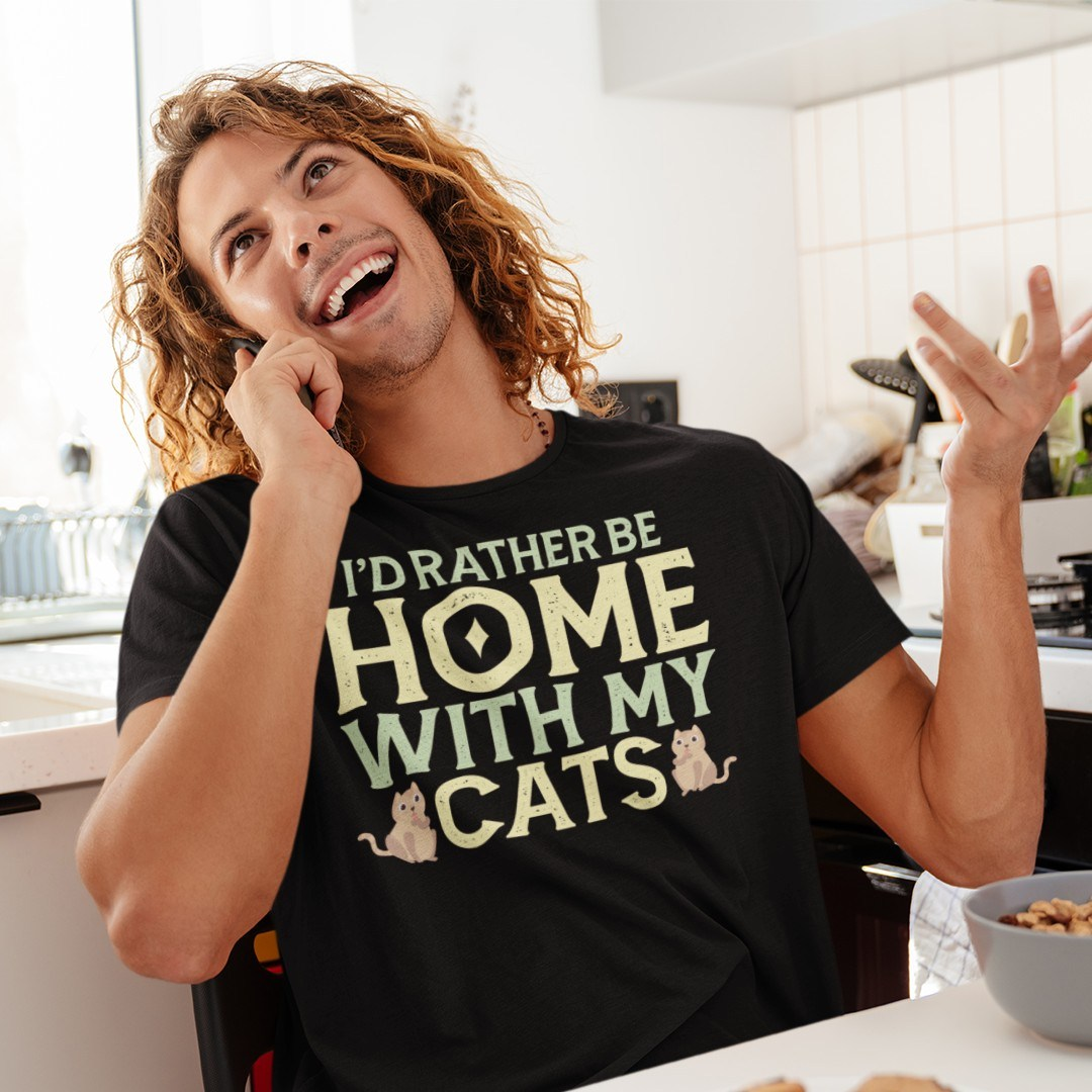 I'd Rather be Home with my Cats Bengalkatze Katze