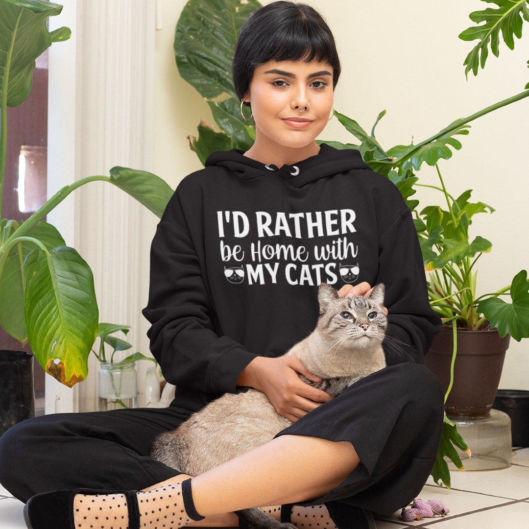 I'd Rather be Home with my Cats Katzenlady Katze